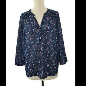 H&M Cute Blue Blouse!